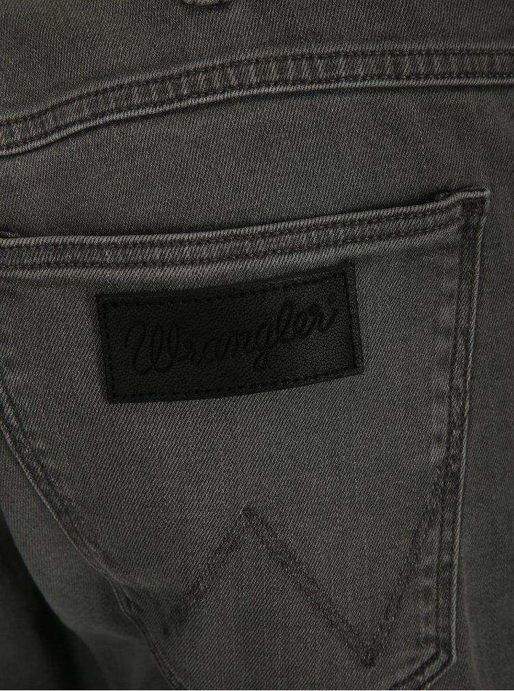 Šedé pánské regular straight džíny Wrangler Greensboro
