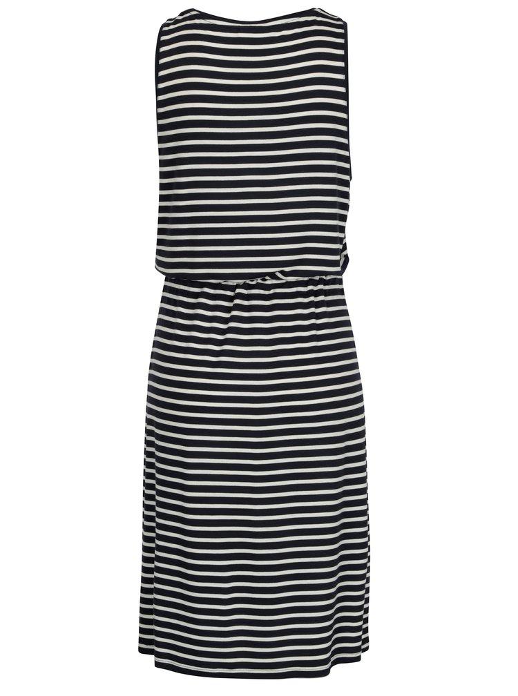 Tmavě modré pruhované šaty VILA Fi