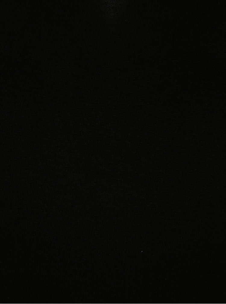 Rochie maxi neagra cu slit -  VILA Deana