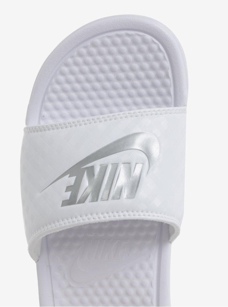Bílé dámské pantofle Nike Benassi Jdi