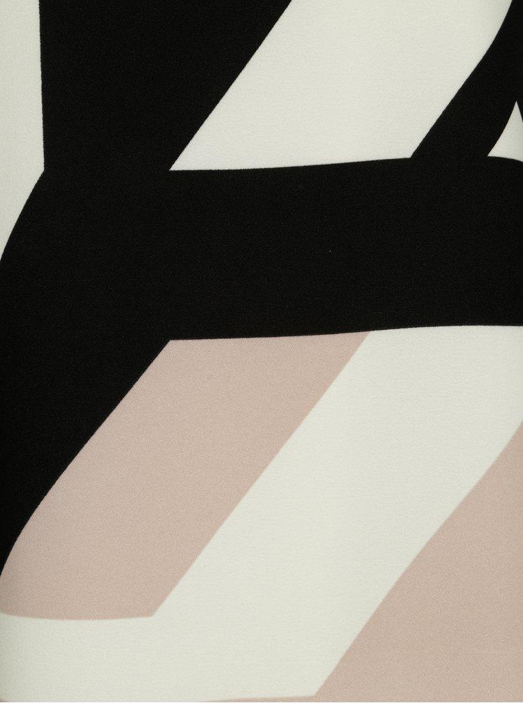 Čierno-krémové oversize šaty Smashed Lemon
