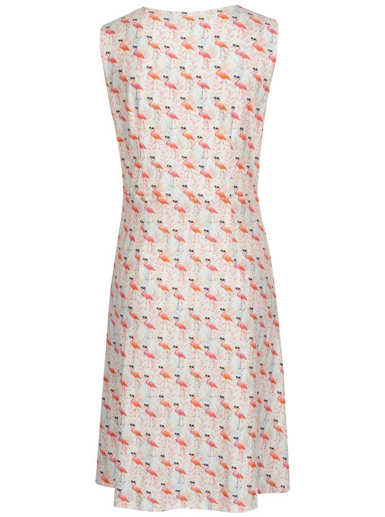 Bílé áčkové vzorované šaty s překládaným dekoltem Smashed Lemon