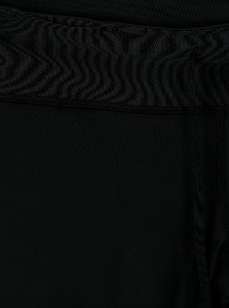 Colanti sport negri cu print lateral pentru femei Nike Tght Fast Gx
