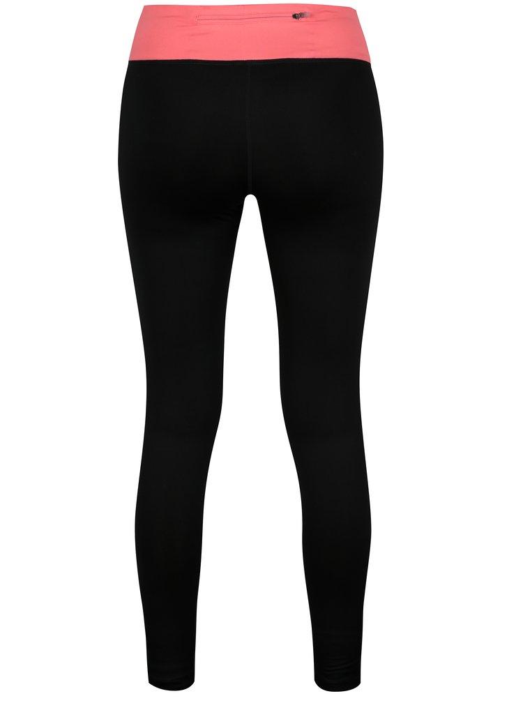Růžovo-černé zkrácené dámské funkční legíny Nike PWR ESSNTL TGHT