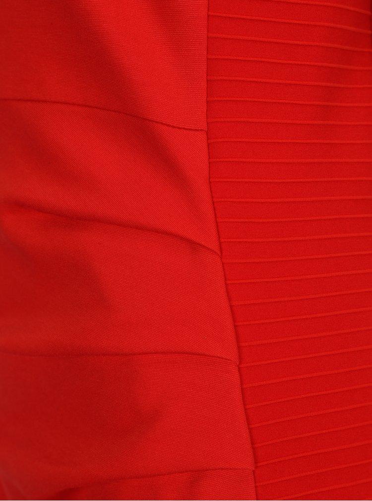 Červené pouzdrové šaty Smashed Lemon