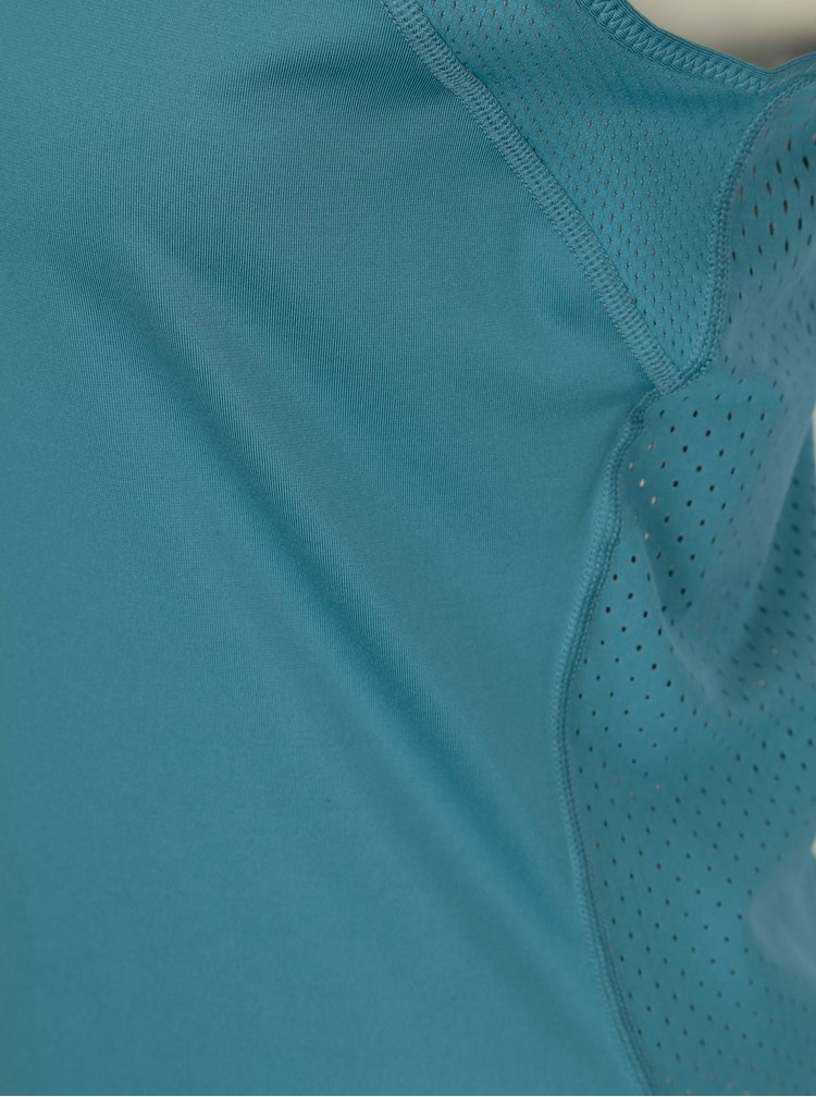 Top sport albastru petrol cu decupaje si perforatii pentru femei - Nike Hprcl Tank
