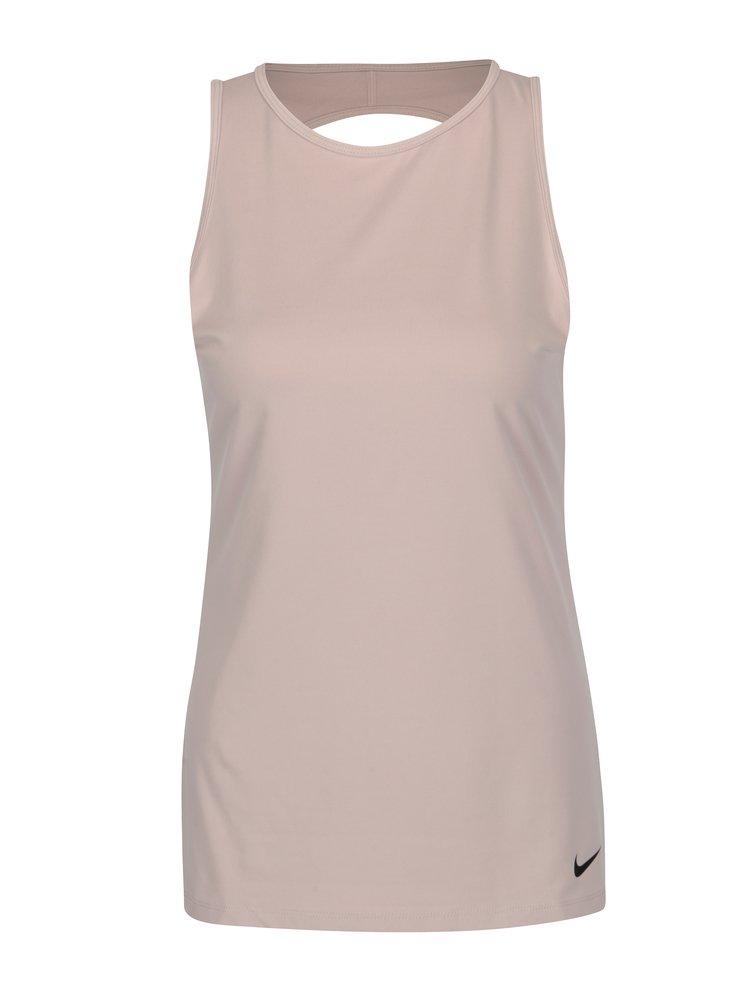 Růžové dámské funkční tílko Nike Dry Tank