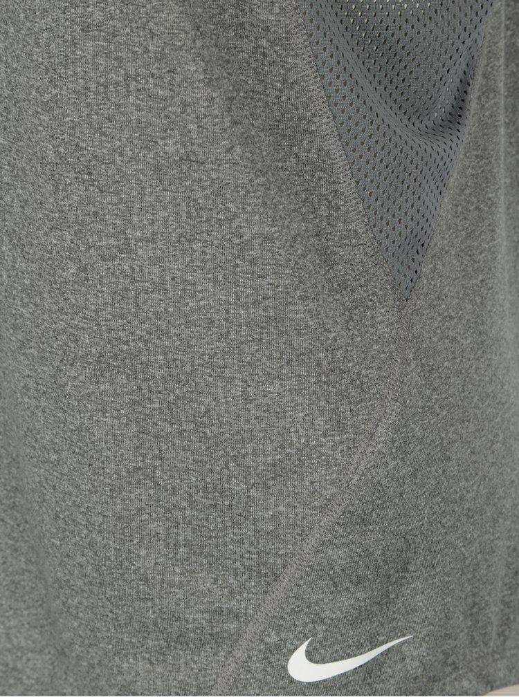 Top sport gri melanj cu bretele incrucisate pentru femei -  Nike Dry Tank Elastka