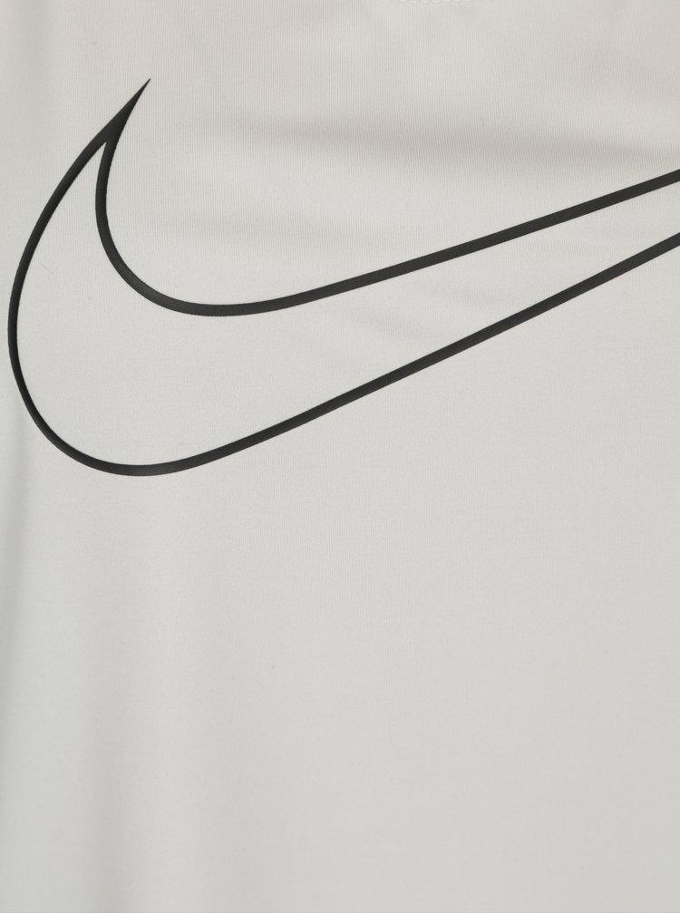 Světle šedé dámské funkční tílko Nike Training Tank