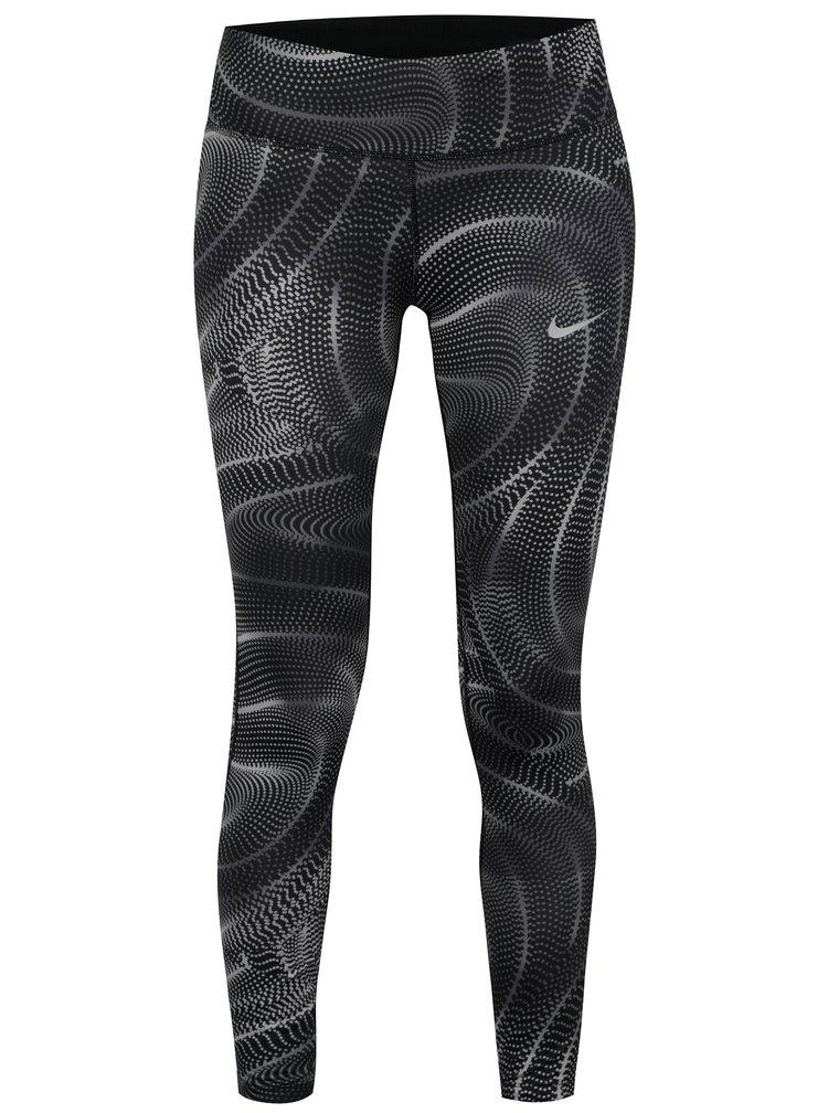 Šedé dámské zkrácené funkční legíny Nike PWR ESSNTL