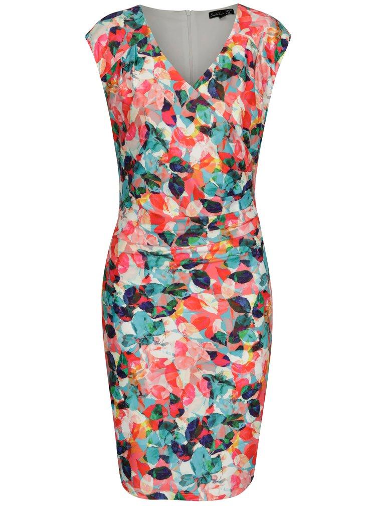 Barevné pouzdrové vzorované šaty Smashed Lemon