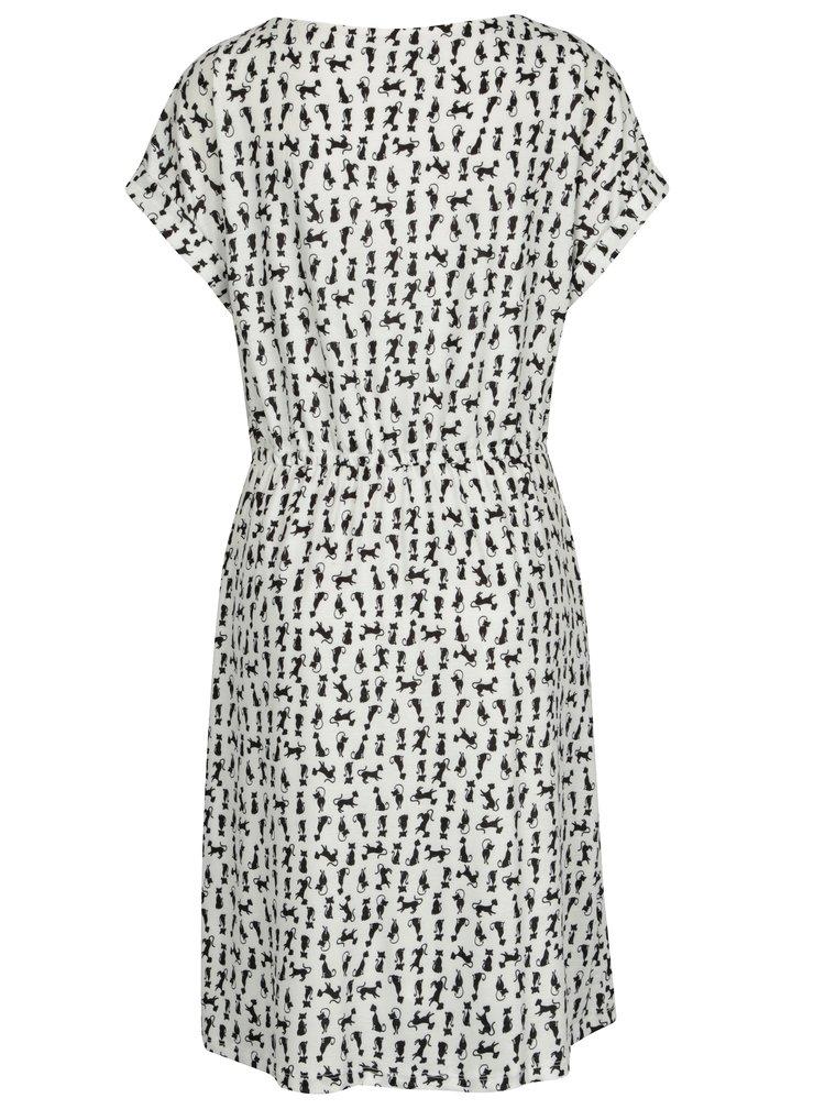 Bílé áčkové vzorované šaty Smashed Lemon