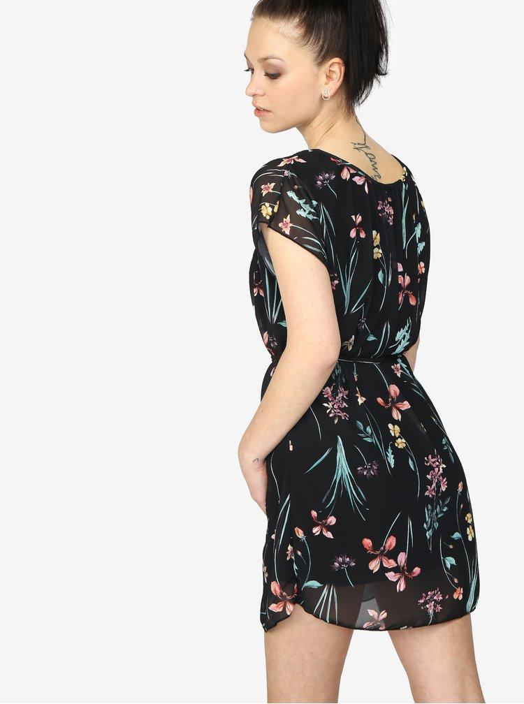Černé květované šaty Haily's Anne