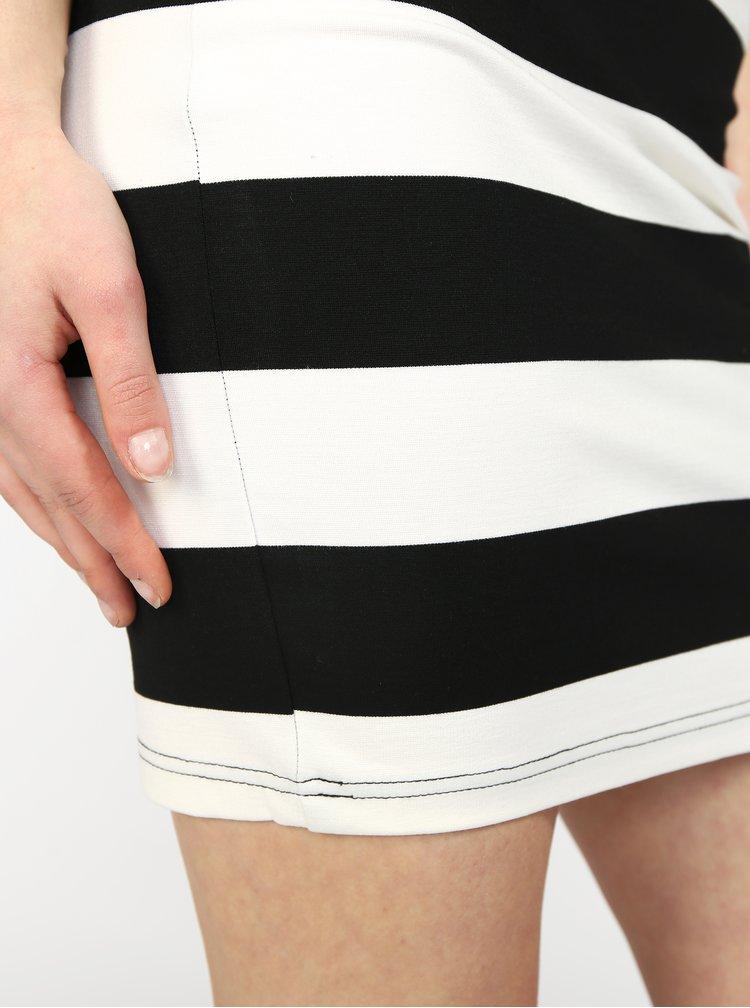 Černo-bílá pruhovaná sukně Haily's Lola