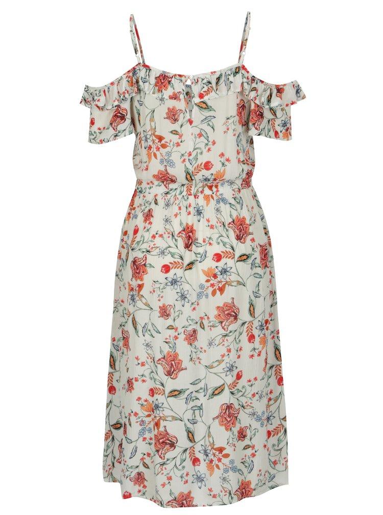 Krémové šaty s odhalenými rameny Dorothy Perkins