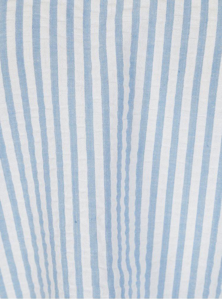 Modrá blúzka s odhalenými ramenami Dorothy Perkins Petite