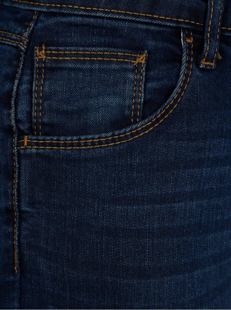 Modré zkrácené skinny džíny Dorothy Perkins