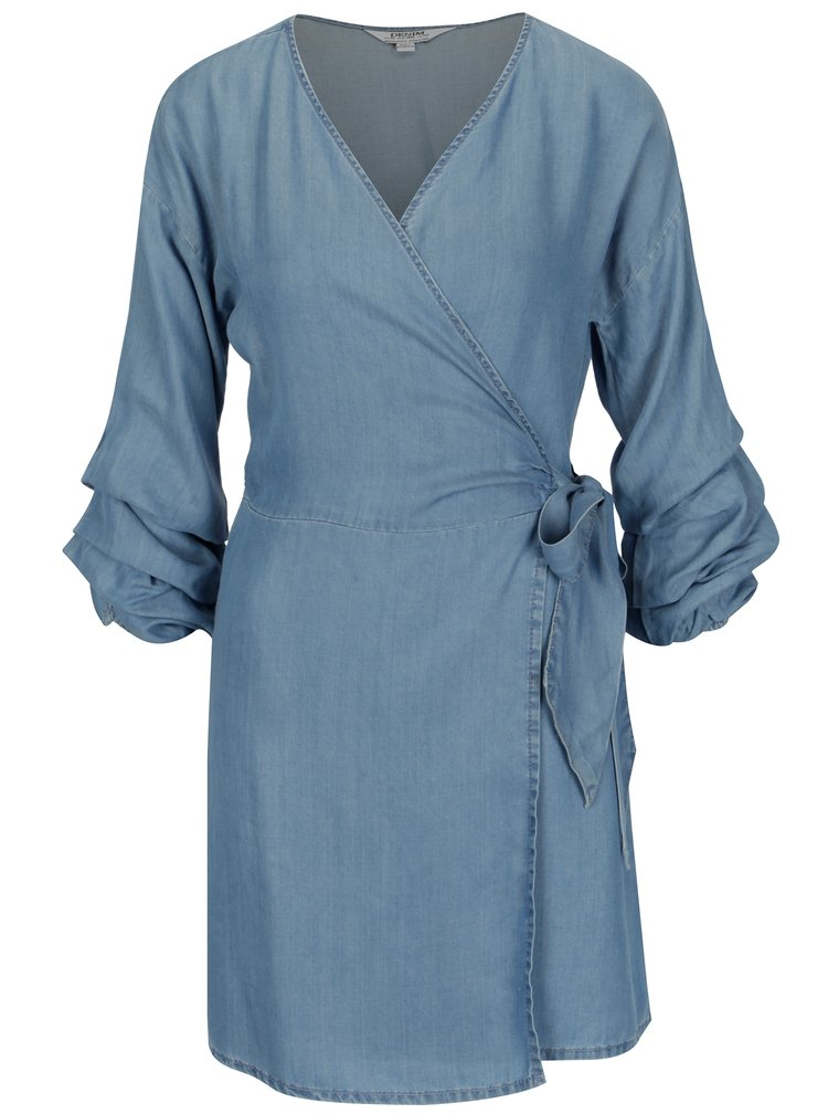 Modré džínové zavinovací šaty Dorothy Perkins