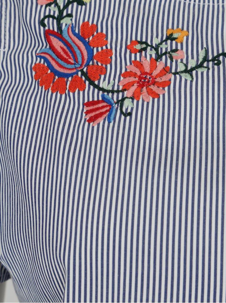 Krémovo-modrá halenka s průstřihy na ramenouDorothy Perkins