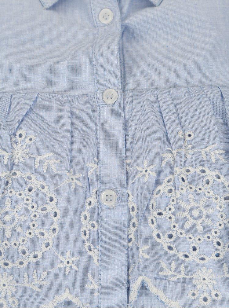 Modrá halenka s odhalenými rameny Dorothy Perkins