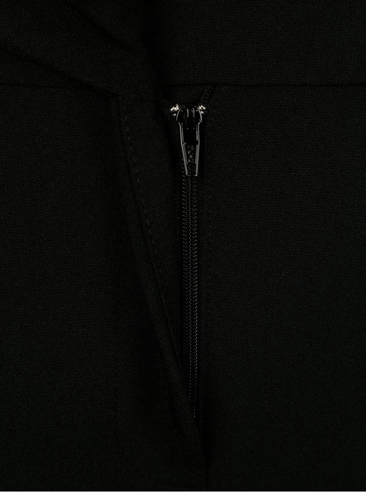 Černé zkrácené kalhoty s vysokým pasem Dorothy Perkins