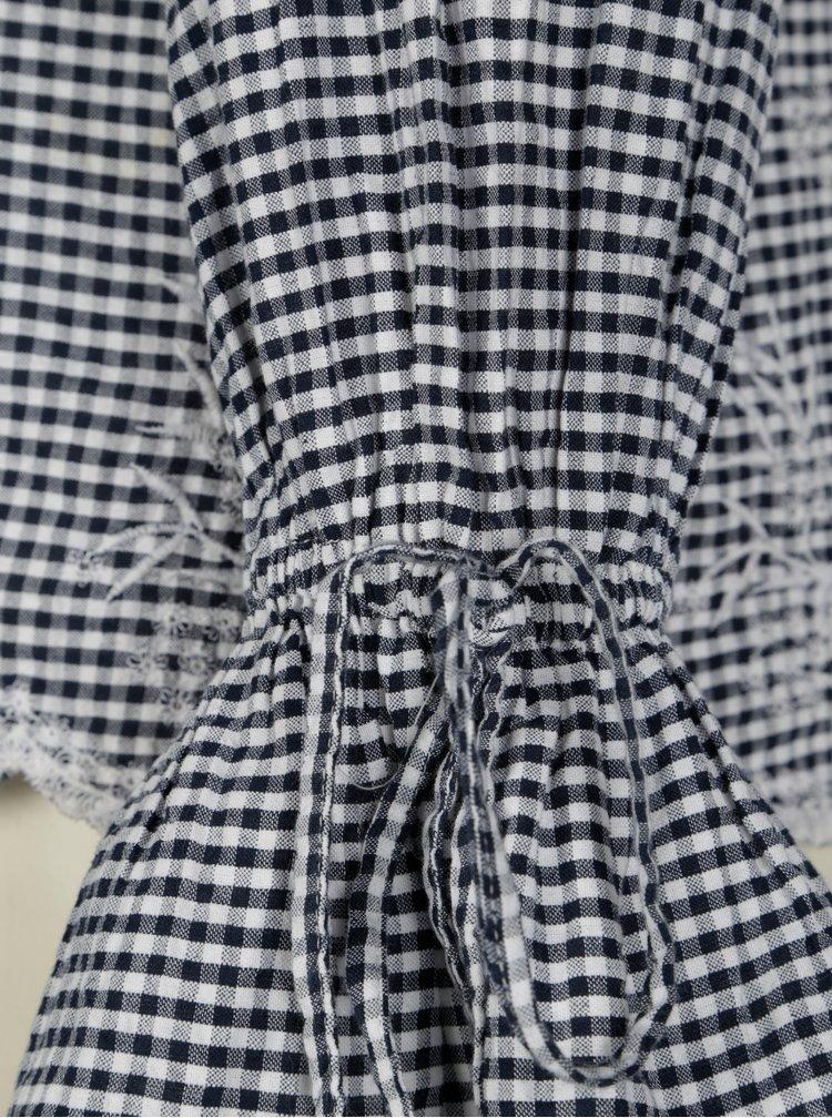 Krémovo-modrá halenka s průstřihy na ramenou Dorothy Perkins