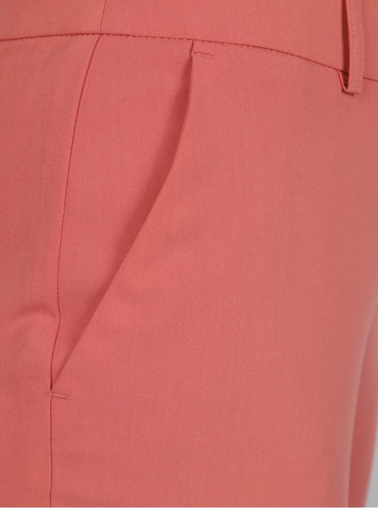 Korálové zkrácené kalhoty Dorothy Perkins