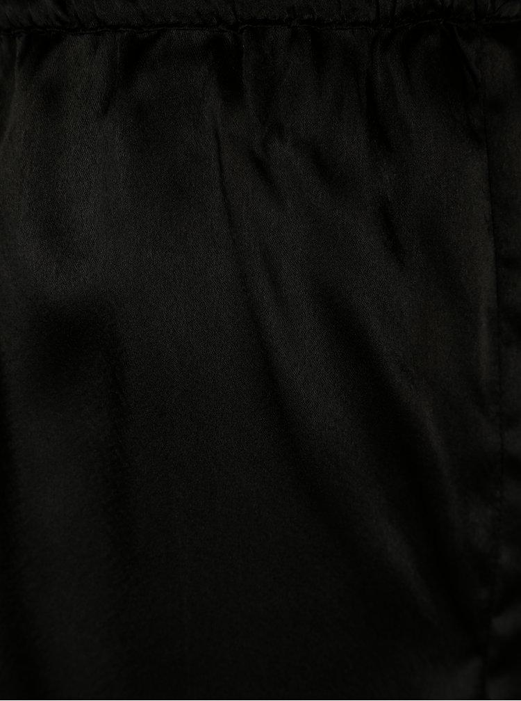Černé dvoudílné lesklé pyžamo Dorothy Perkins