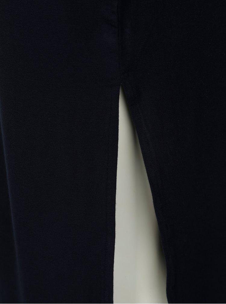 Tmavě modré midišaty s odhalenými remeny ONLY Kathy
