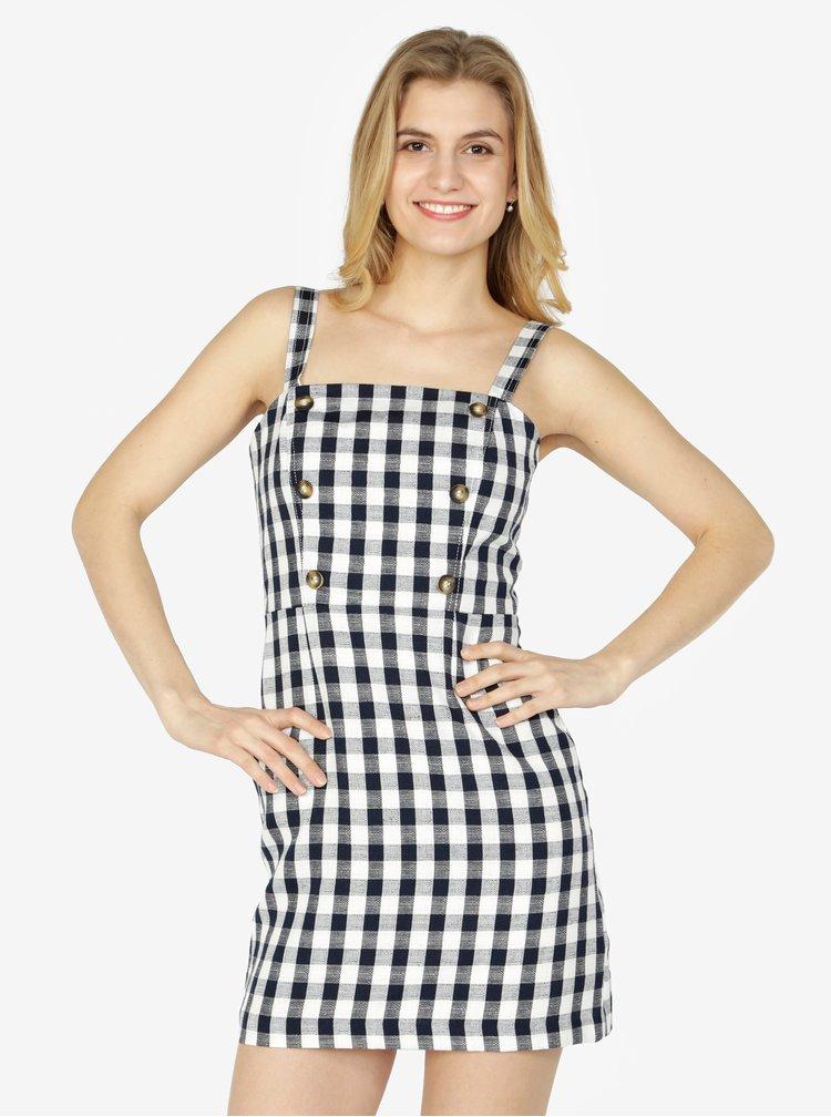 Krémové kostkované šaty Miss Selfridge