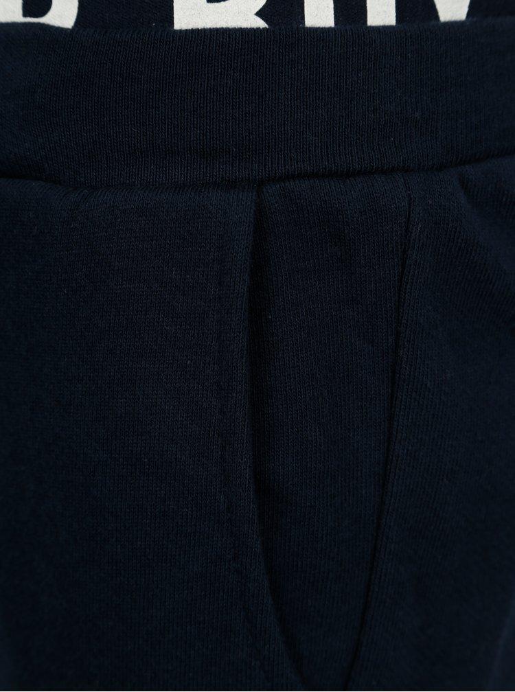 Tmavě modré klučičí teplákové kraťasy name it Frankling