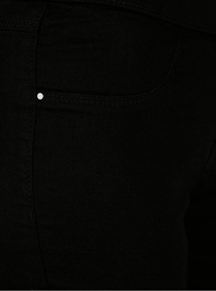 Černé super soft jeggings s vysokým pasem Dorothy Perkins Eden