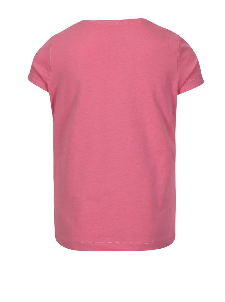 Růžové holčičí tričko s potiskem name it Veen