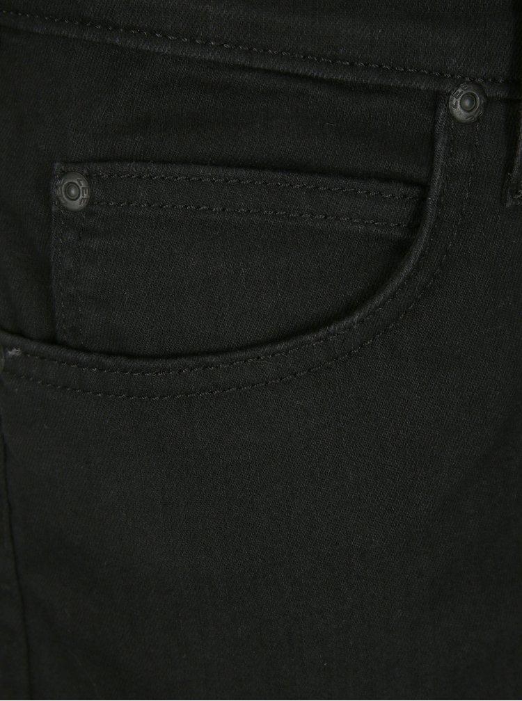 Černé pánské džínové kraťasy Lee Rider