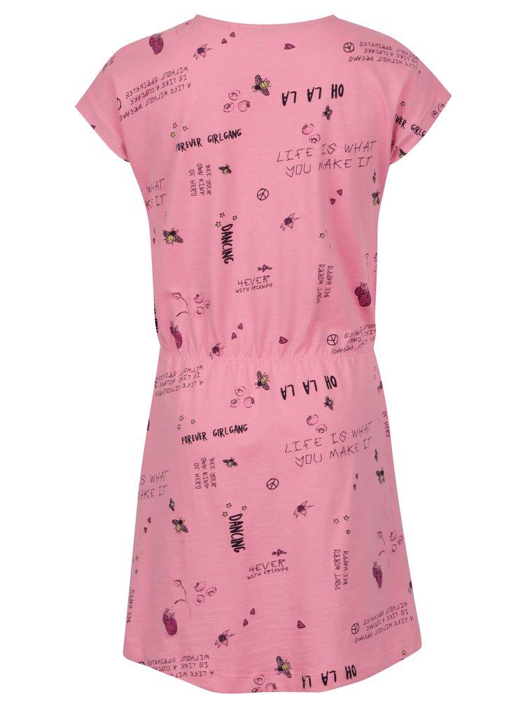 Růžové holčičí šaty s potiskem name it Viga