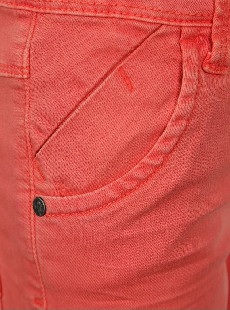 Červené klučičí džínové slim kraťasy name it Sofus