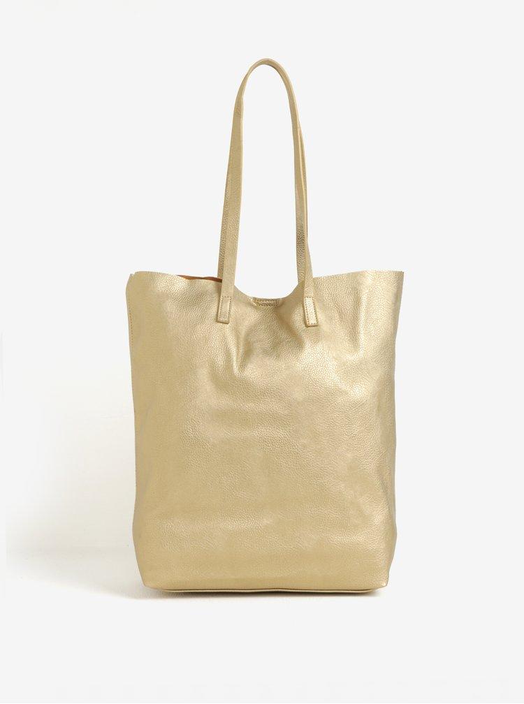 Metalický shopper ve zlaté barvě VERO MODA Anna