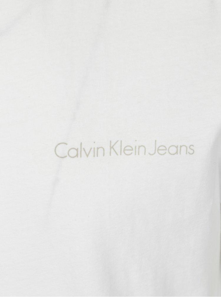 Bílé pánské slim fit tričko Calvin Klein Jeans Tiboro