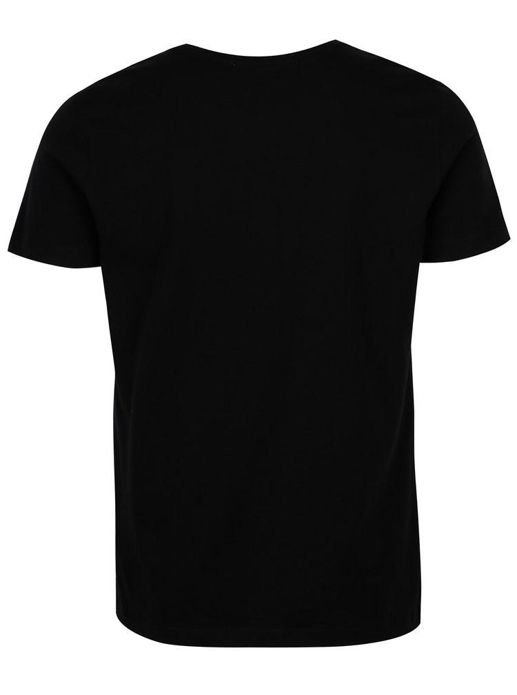 Černé pánské slim fit tričko s potiskem Calvin Klein Jeans Tamasy