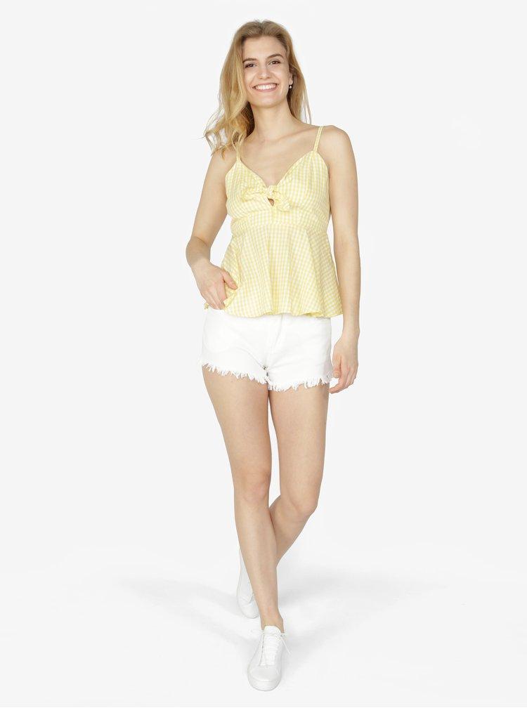 Top galben & alb cu model carouri - VERO MODA Luna
