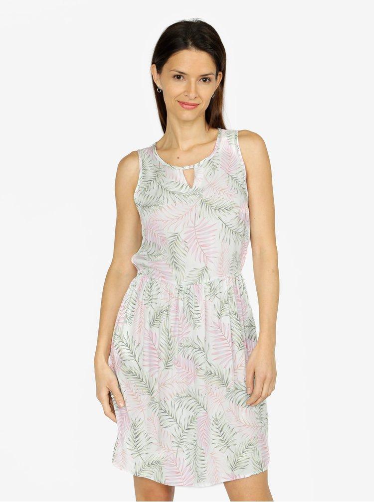 Svetlozelené vzorované šaty VERO MODA Simply