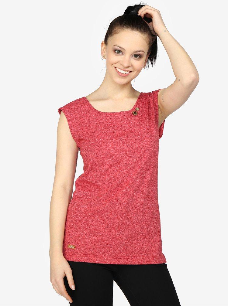 Červené žíhané dámské tričko s pásky na zádech Ragwear Sofia