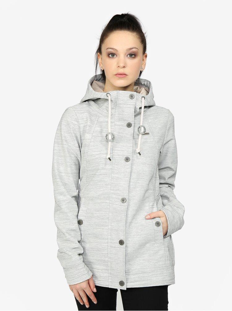 Světle šedá žíhaná dámská lehká bunda Ragwear