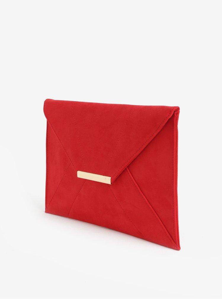 Červené psaníčko v semišové úpravě Dorothy Perkins