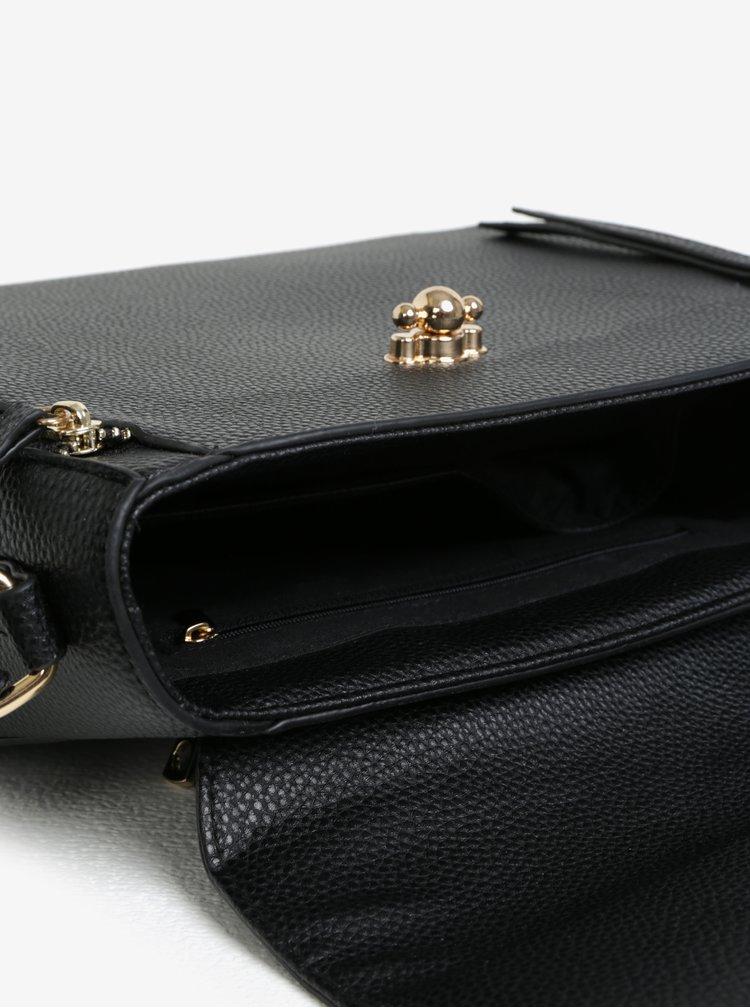Černá crossbody kabelka se zipy Dorothy Perkins
