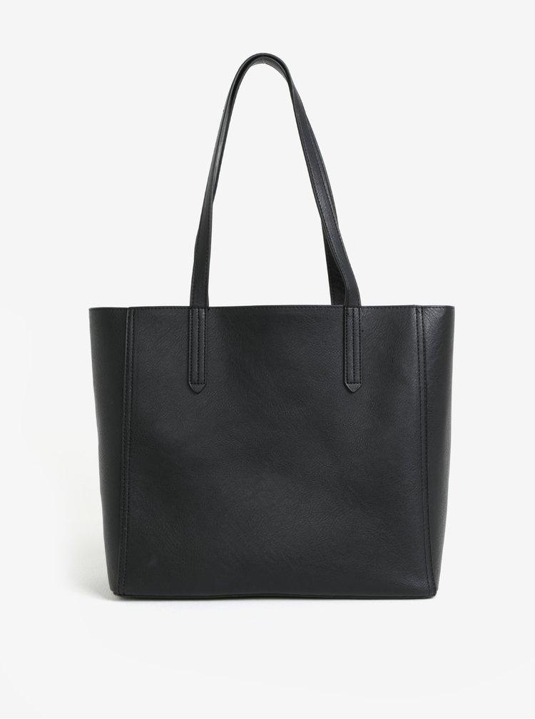 Černý shopper s pouzdrem 2v1 Dorothy Perkins