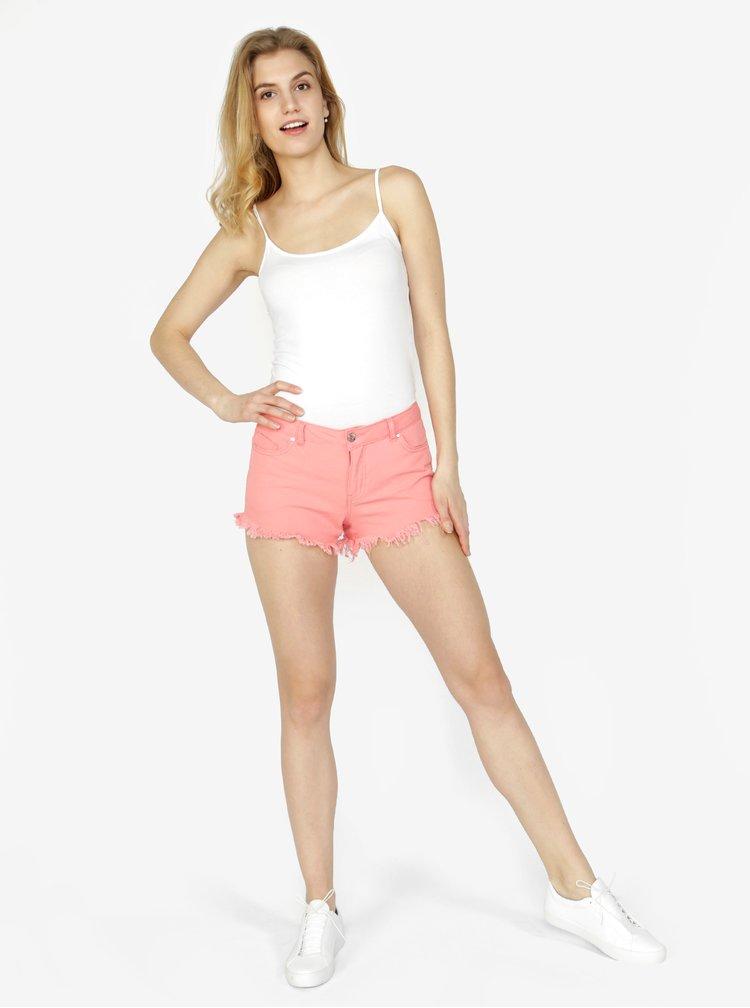 Růžové džínové kraťasy VERO MODA Fiver