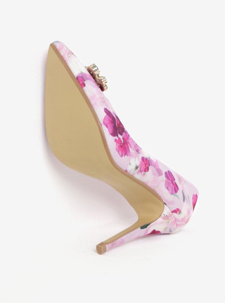 Růžové vzorované lodičky s lesklou aplikací Dorothy Perkins
