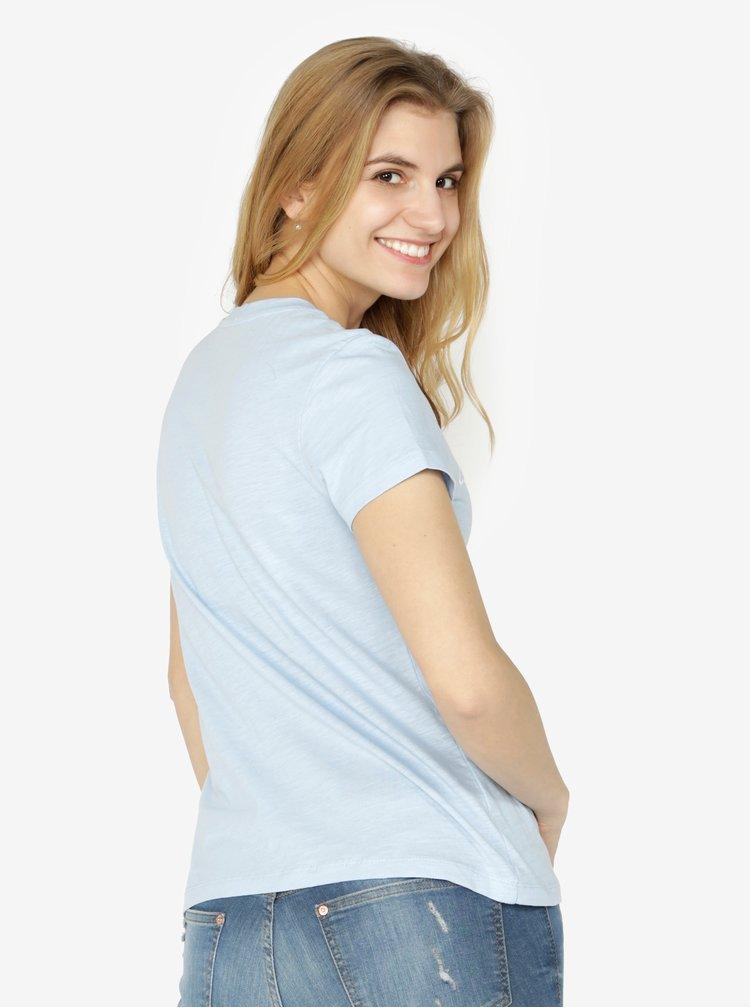 Světle modré dámské tričko s potiskem Calvin Klein Jeans Tamar