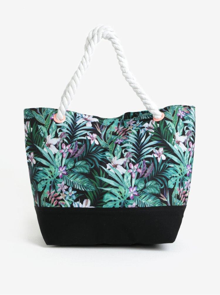 Černá květovaná holčičí taška name it Zibag